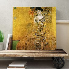 """Leinwandbild """"Bildnis der Adele Bloch-Bauer I"""" von Gustav Klimt, Kunstdruck"""