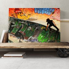 Skateboard Skateboarding Skate Park Photographic Print on Canvas
