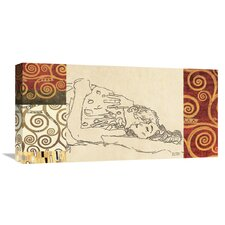 Lovers' by Gustav Klimt Wall Art on Wrapped Canvas  by Global Gallery