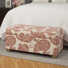 Aragon Upholstered Decorative Storage Ottoman by Laurel Foundry Modern Farmhouse