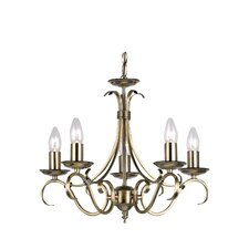 5 Light Grande Candle Chandelier