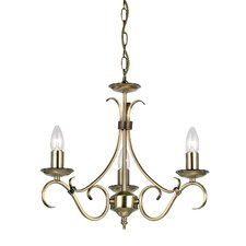 3 Light Grande Candle Chandelier
