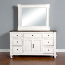 7 Drawer Dresser with Mirror by August Grove