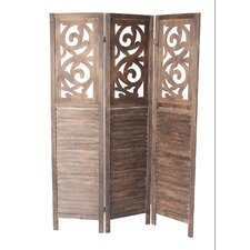 "Mariam 70"" x 50"" 3 Panel Room Divider"