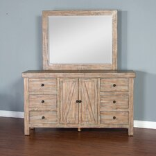 Herman 6 Drawer Dresser with Mirror by Loon Peak