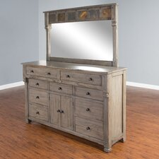 Packard 9 Drawer Dresser with Mirror by Loon Peak