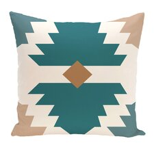 Avian Geometric Print Throw Pillow