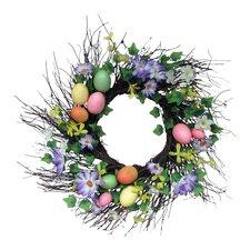 "Spring 22"" Spiral Egg Wreath"