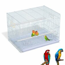 Metal Bird Cage with Feeding Trays