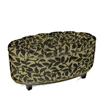 Ora Oval Ottoman Bench in Brown Flock by 4D Concepts