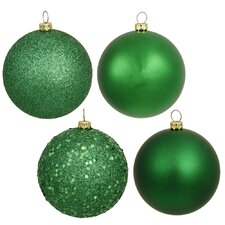 Plastic Ball Ornament with Cap (Set of 60)