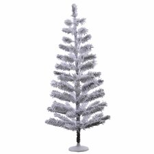 4' Silver Flocked Feather Artificial Christmas Tree
