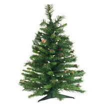 3' Cheyenne Pine Christmas Tree with 100 LED Warm White Lights
