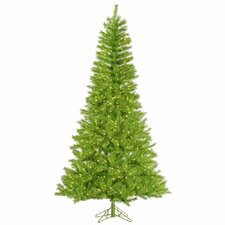 5.5' Lime/Green Tinsel Artificial Christmas Tree with 350 LED Lime Lights