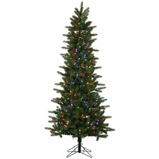 5.5' Kennedy Fir Slim Christmas Tree with 300 LED Multi Colored Lights with Stand