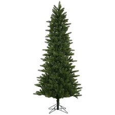 12' Kennedy Fir Slim Christmas Tree with 1600 LED Warm White Lights with Stand