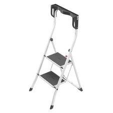 Hailo Safety Plus 2 Step Steel Step Ladder