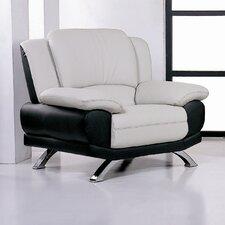 Caelyn Leather Club Chair by Hokku Designs