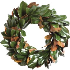 Gilt Magnolia Leaf Wreath