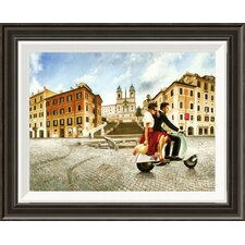 Lovers in Rome' by Pierre Benson Framed Painting Print on Canvas  by Global Gallery
