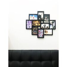 quick view 10 photo collage puzzle style picture frame