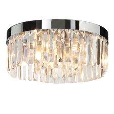 Crystal 5 Light Flush Ceiling Light