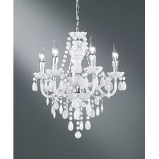 Luster 5 Light Crystal Chandelier