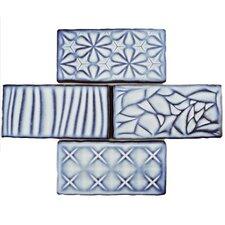 "Antiqua Sensations 3"" x 6"" Ceramic Subway Tile in Glossy Blue"