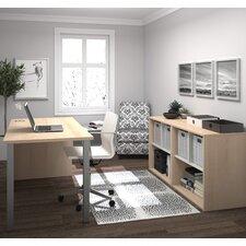 Luther 2 Piece Standard Desk Office Suite