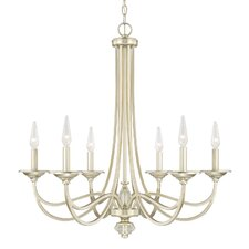 Saxon 6-Light Candle-Style Chandelier