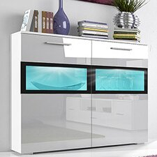 Sarah 2 Drawer Side Cabinet with LED by Helvetia