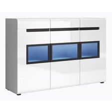 Korina Gloss Side Cabinet with LED by Orren Ellis
