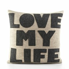 Celebrate Everyday Love My Life Decorative Throw Pillow