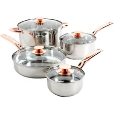 Ansonville 8 Piece Stainless Steel Cookware Set