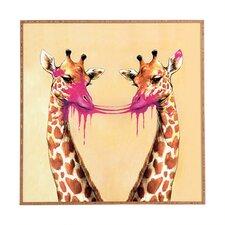 Nadine Giraffes With Bubblegum 2 by Framed Art