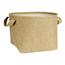 Round Soft Side Burlap Laundry Basket