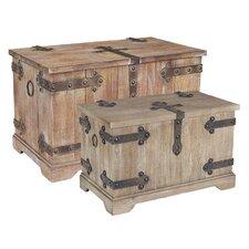 Victorian 2 Piece Storage Trunk Set