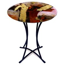 Round End Table by Jasmine Art Glass