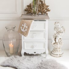 Romance 3 Drawer Bedside Table