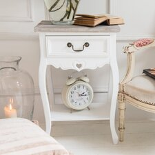 Romance 1 Drawer Bedside Table