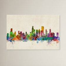 Chicago, Illinois Painting Print on Wrapped Canvas