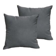 Branan Square Knife Edge Indoor/Outdoor Throw Pillow (Set of 2)