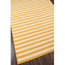 Norris Yellow/White Indoor/Outdoor Area Rug