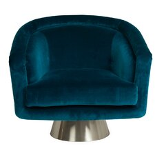 Bacharach Swivel Barrel Chair by Jonathan Adler