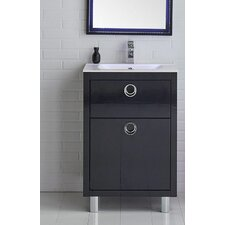 Platinum 24 Due Single Bathroom Vanity Set by Fresca