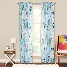Chase Your Dreams Wildlife Sheer Rod Pocket Single Curtain Panel