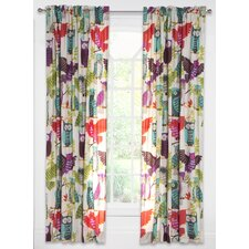 Crayola Owl Always Love You Single Curtain Panel