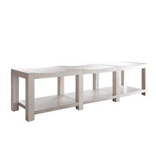 Wood Storage Dining Bench