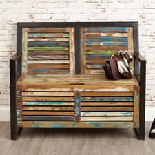 Urban Chic Wood Storage Hallway Bench