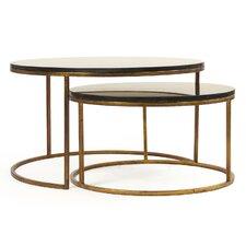 Cheri 2 Piece Coffee Table Set (Set of 2) by Zentique Inc.